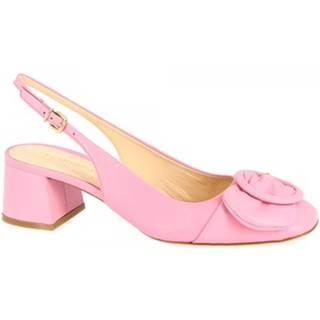 Lodičky Leonardo Shoes  4526 NAPPA ROSA