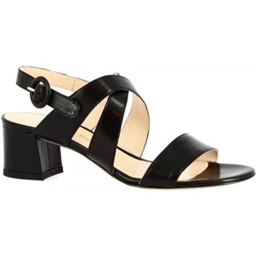 Leonardo Shoes Sandále Leonardo Shoes  3371  VITELLO NERO