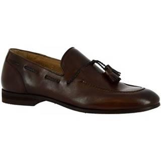 Mokasíny Leonardo Shoes  8717E20 13543U SCARPINA CRUST MORO