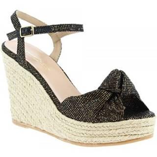 Espadrilky Leonardo Shoes  SALOME LUREX BRONZO