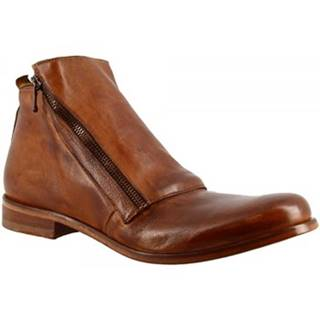 Polokozačky Leonardo Shoes  2580/120 PAPUA CUOIO