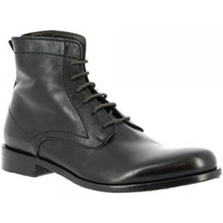 Polokozačky Leonardo Shoes  2580/50 PAPUA NERO