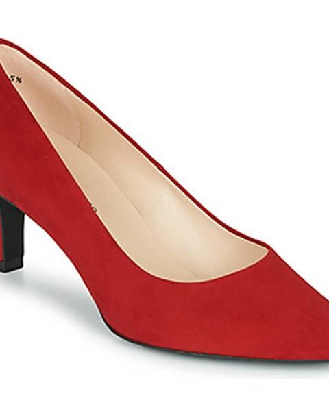 Červené topánky Peter Kaiser