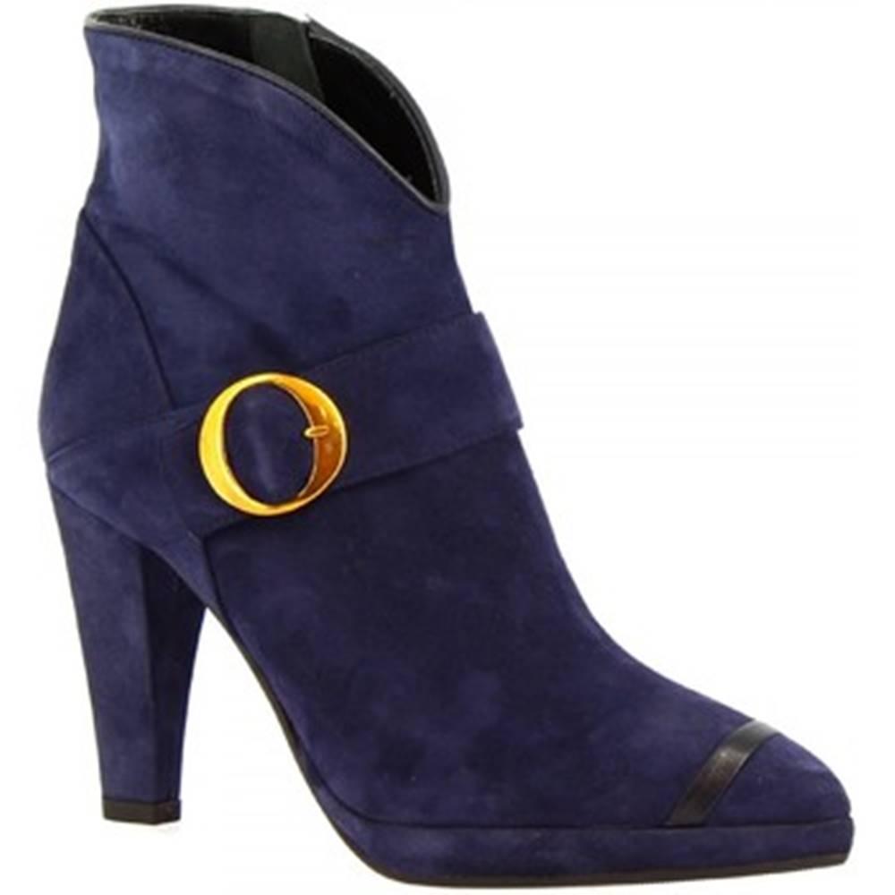 Leonardo Shoes Čižmičky Leonardo Shoes  4553 CAM/NAPPA BLU