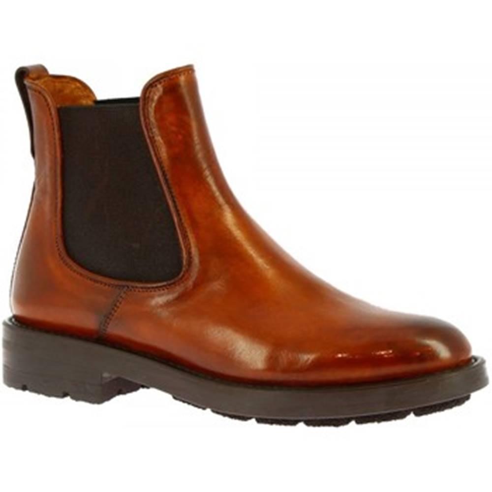 Leonardo Shoes Čižmičky  8045I18 CAPRI SIENA
