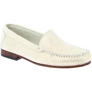 Mokasíny Leonardo Shoes  318 ORO