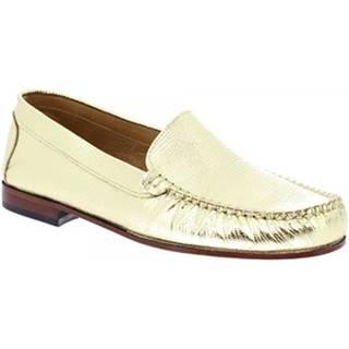 Mokasíny Leonardo Shoes  318L ORO