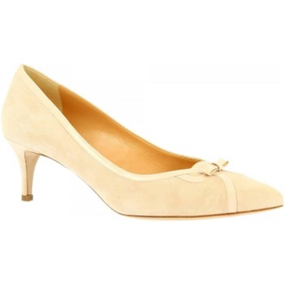 Leonardo Shoes Lodičky  E9550 CAMOSCIO CIPRIA