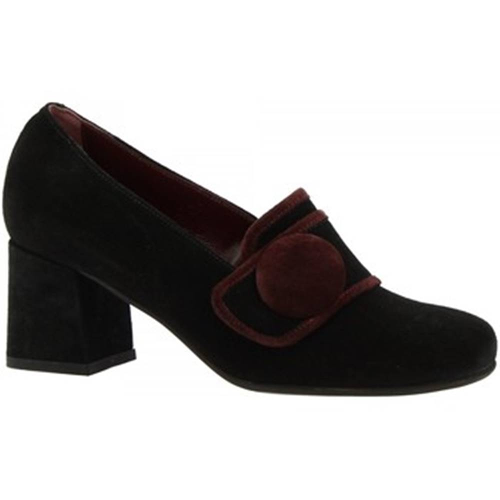 Leonardo Shoes Lodičky Leonardo Shoes  R319 CROSTA NERO