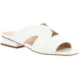 Šľapky Leonardo Shoes  G13 NAPPA BIANCO