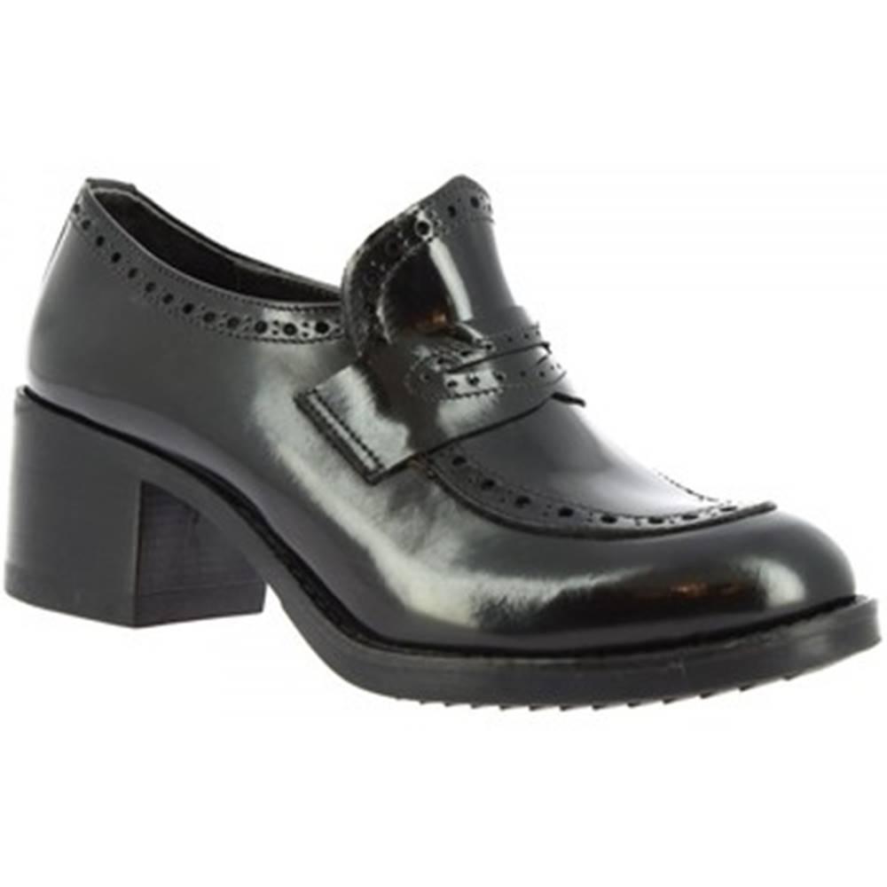 Leonardo Shoes Mokasíny Leonardo Shoes  148 ABRASIVATO NERO