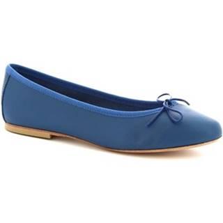 Balerínky/Babies Leonardo Shoes  9028/CUOIO NAPPA COBALTO