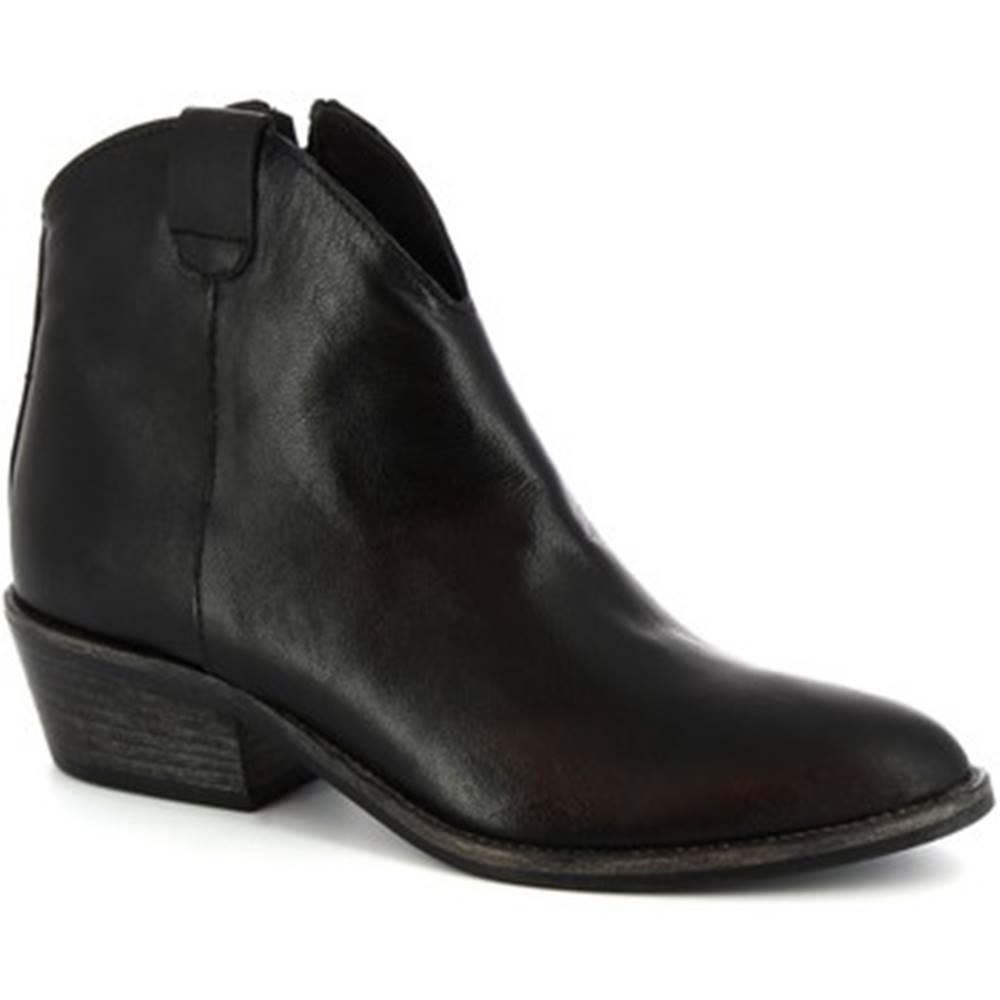Leonardo Shoes Čižmičky Leonardo Shoes  Z122 AMERICA NERO