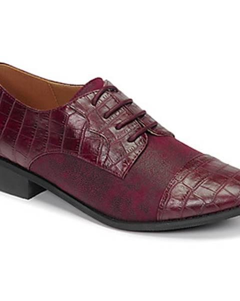 Bordové topánky Moony Mood