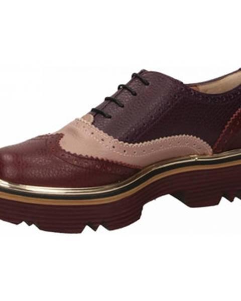 Fialové topánky Pollini Silver