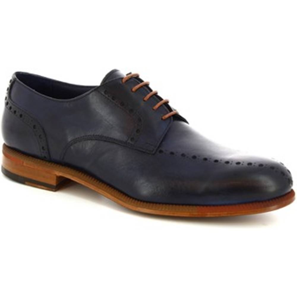 Leonardo Shoes Derbie Leonardo Shoes  893-17  VITELLO BLUE