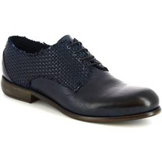 Derbie Leonardo Shoes  ART. LEON VACCH LAV + INTR P. BLU