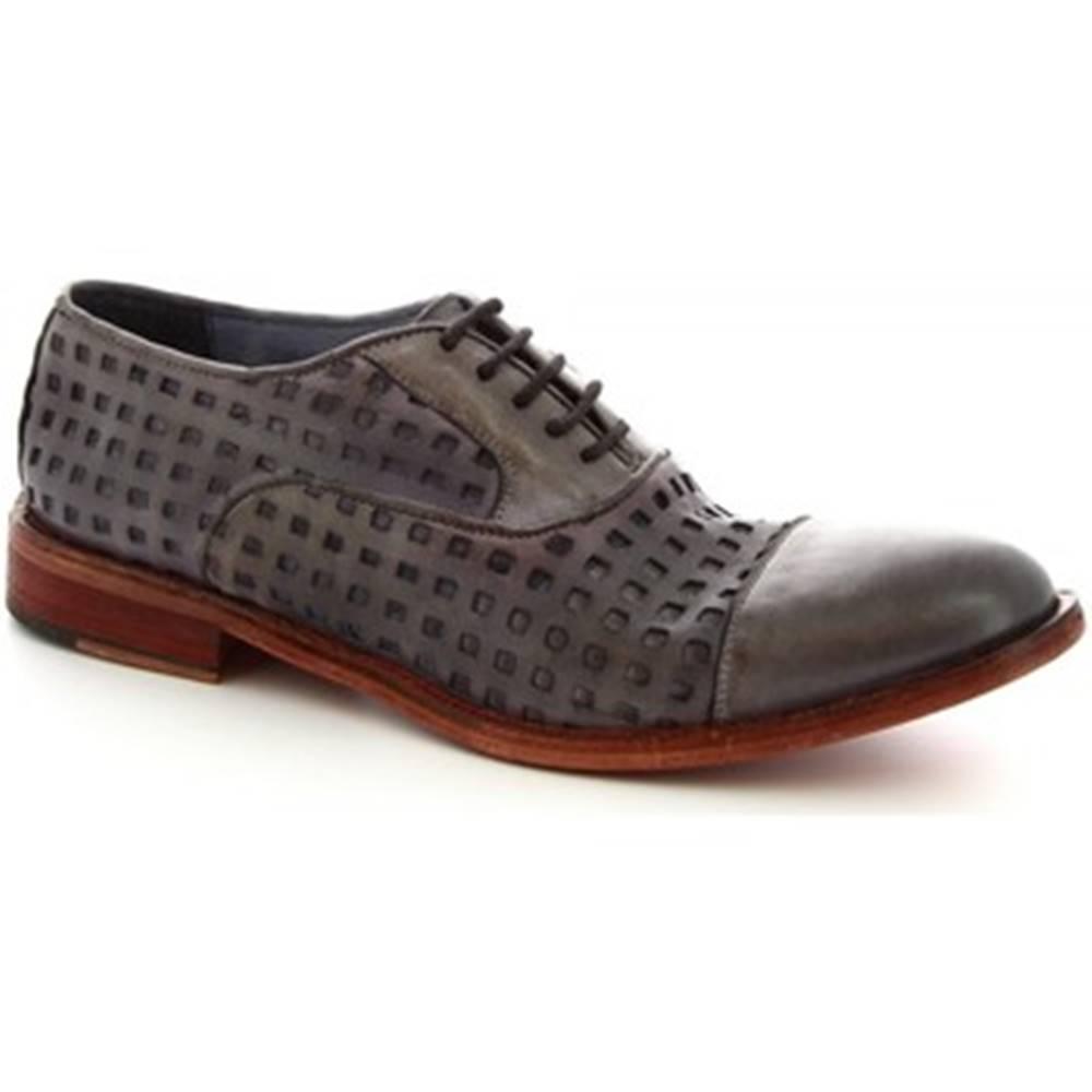 Leonardo Shoes Richelieu Leonardo Shoes  34337/1 PAPUA FOR TUFFATO GRIGIO