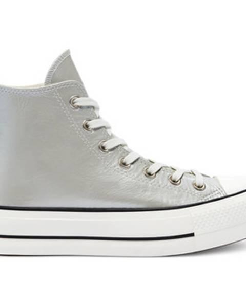 Strieborné tenisky Converse