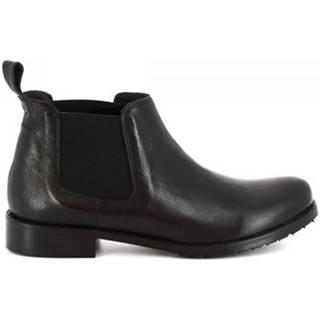 Polokozačky Leonardo Shoes  1796 ROK NERO