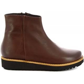 Polokozačky Leonardo Shoes  4500 T. MORO