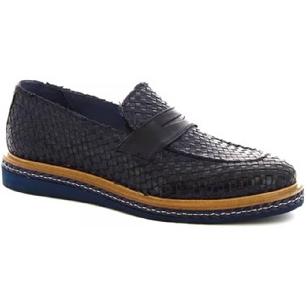 Leonardo Shoes Mokasíny Leonardo Shoes  1012_3 PE VITELLO BLUE