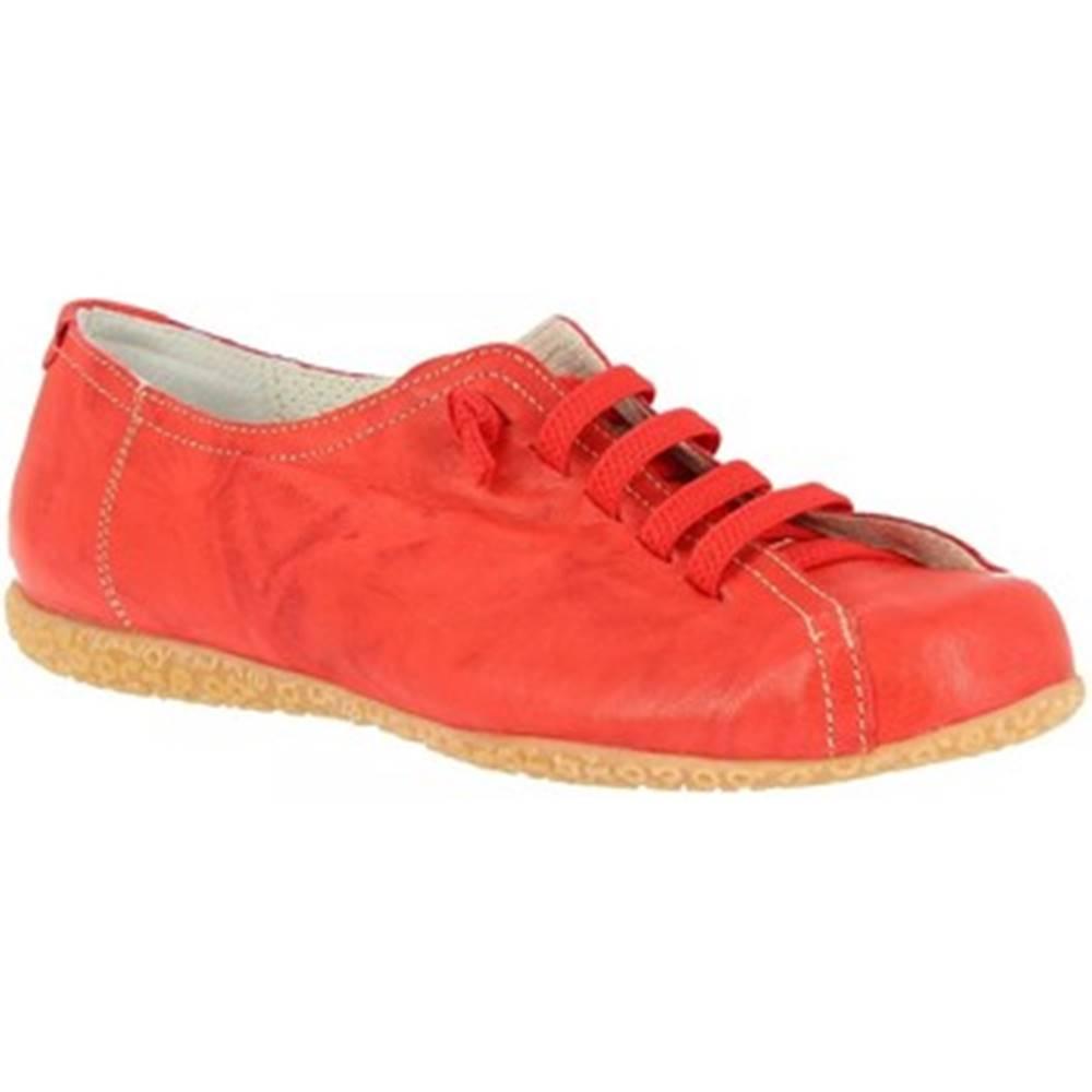 Leonardo Shoes Derbie  1269PINTA ROSSO CHIARO