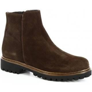 Polokozačky Leonardo Shoes  139 CAMOSCIO T. MORO
