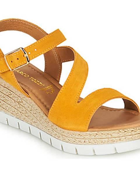 Žlté topánky Marco Tozzi