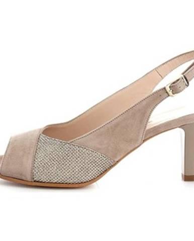 Hnedé topánky Donna Soft