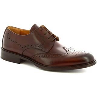 Derbie Leonardo Shoes  110 VITELLO MARRONE