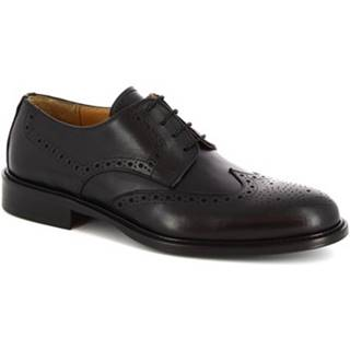 Derbie Leonardo Shoes  110 VITELLO NERO