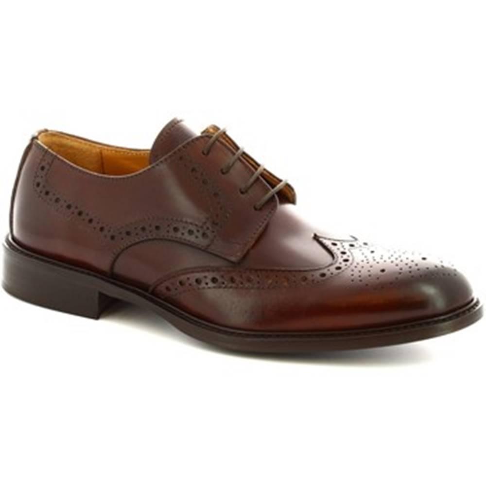 Leonardo Shoes Derbie Leonardo Shoes  110 VITELLO MARRONE
