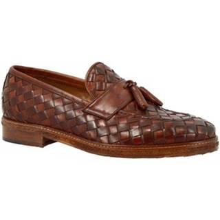 Mokasíny Leonardo Shoes  1054_5 PE VITELLO MARR