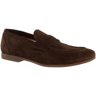 Mokasíny Leonardo Shoes  CAR01 PE CAMOSCIO TM