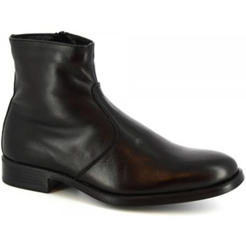 Leonardo Shoes Polokozačky  248-5135 BUTTER CALF NERO