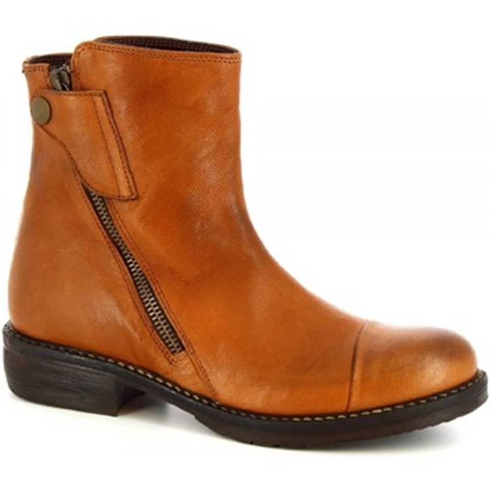 Leonardo Shoes Polokozačky Leonardo Shoes  32525/3 OYSTER CUOIO