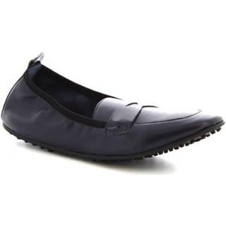 Balerínky/Babies Leonardo Shoes  384-13/1102 NAPPA BLU