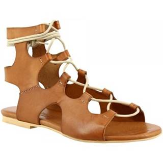 Sandále Leonardo Shoes  PC132 VACCHETTA CUOIO