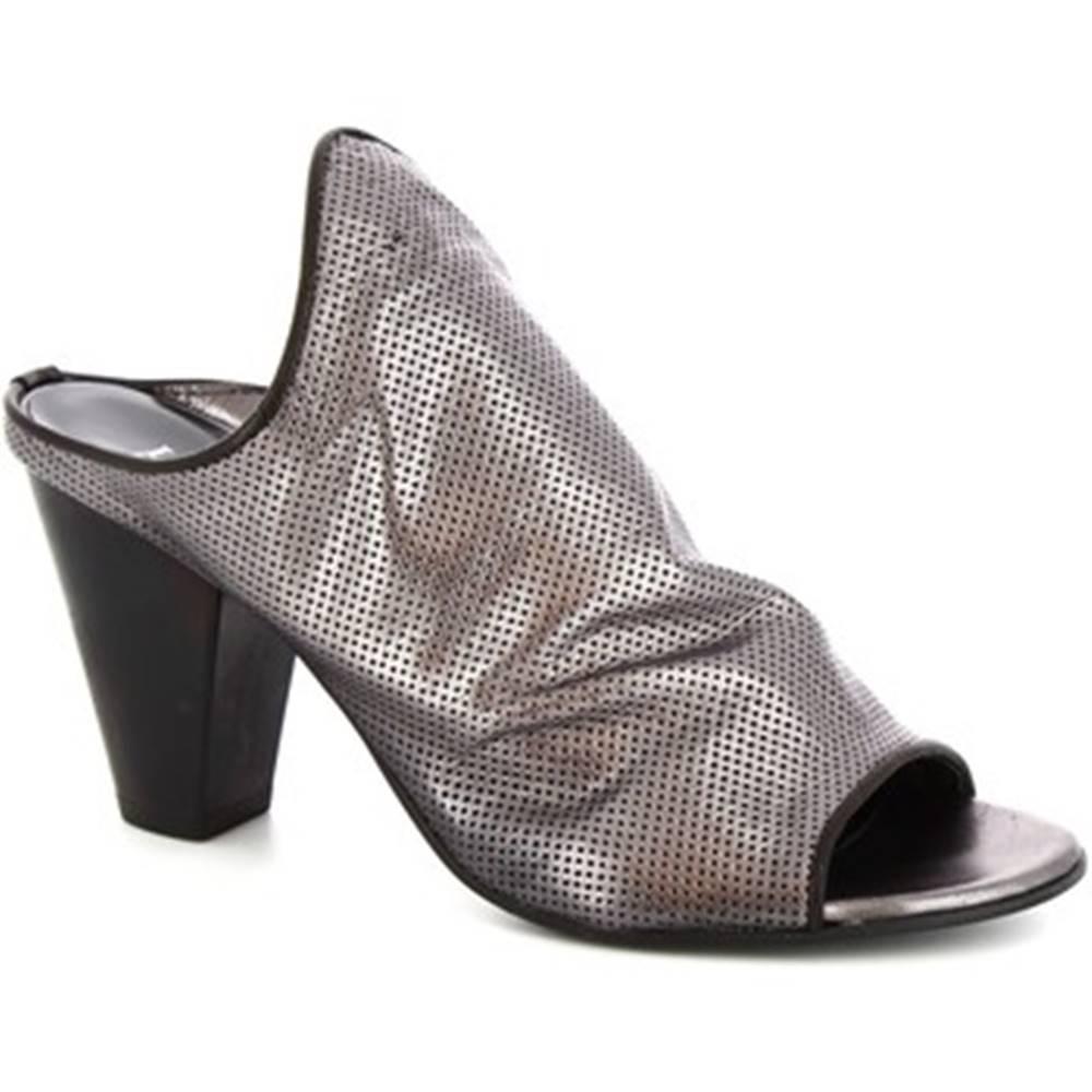 Leonardo Shoes Sandále  Z312/F LAMINATO ACCIAIO