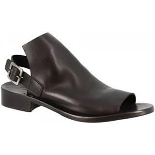 Sandále Leonardo Shoes  K106 WASH NERO