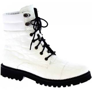 Čižmy do mesta Leonardo Shoes  4778ROBIN COCCO BIANCO
