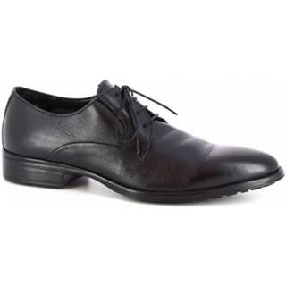 Derbie Leonardo Shoes  44218-I F.442 GOMMA NEUT N FOD. MERINOS