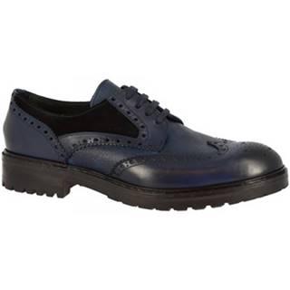 Derbie Leonardo Shoes  M030-04 RISO VELOUR BLU