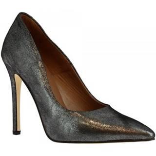 Lodičky Leonardo Shoes  206 LAMINATO ARGENTO