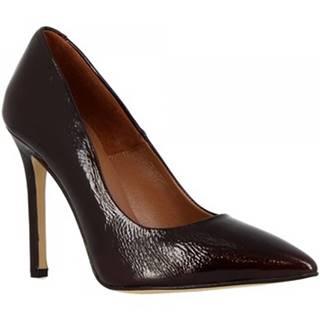 Lodičky Leonardo Shoes  206 NAPLAK BORDEAUX