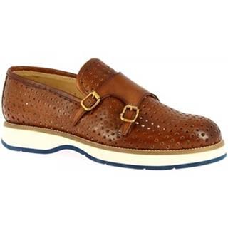 Mokasíny Leonardo Shoes  1117_1 VITELLO CUOIO