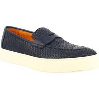 Nízke tenisky Leonardo Shoes  1087_1 VITELLO BLUE