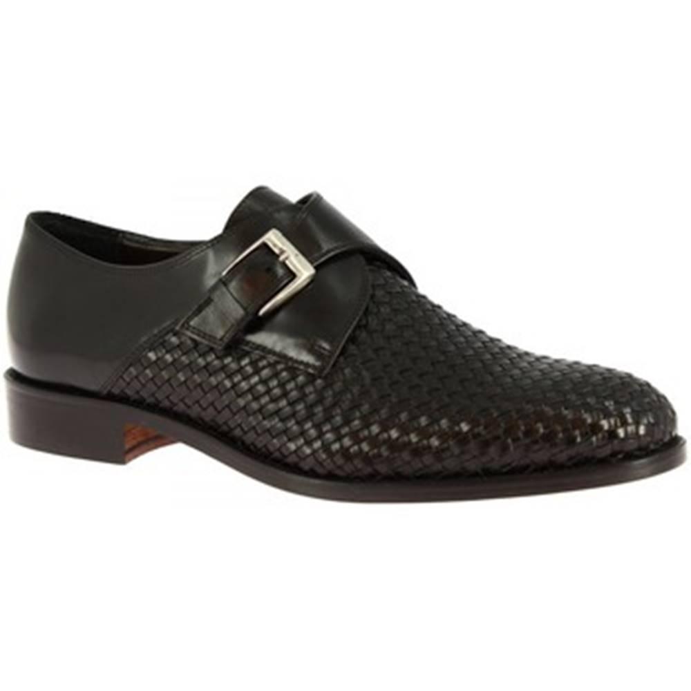 Leonardo Shoes Mokasíny Leonardo Shoes  06541FORMA40 METISSE NERO