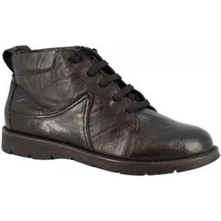 Polokozačky Leonardo Shoes  3009 NERO